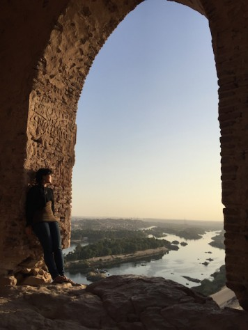 The sunset view over the Nile on top of the Tombs of the Noble was breathtaking.