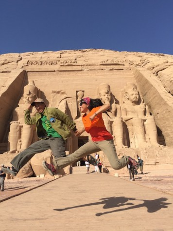 Abu Simbel Temple, next to the Sudan border, was one of the best preserved temple built by Ramses II to honor himself.