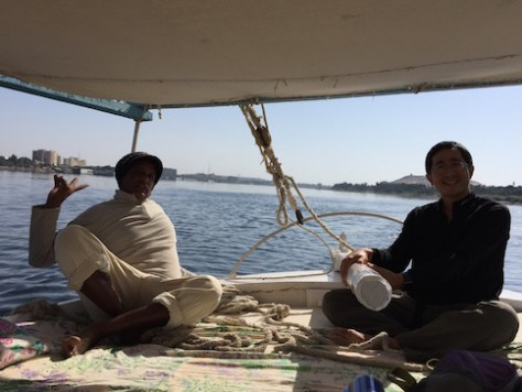 Sailing the felucca on my own was one of my most enjoyable moment.