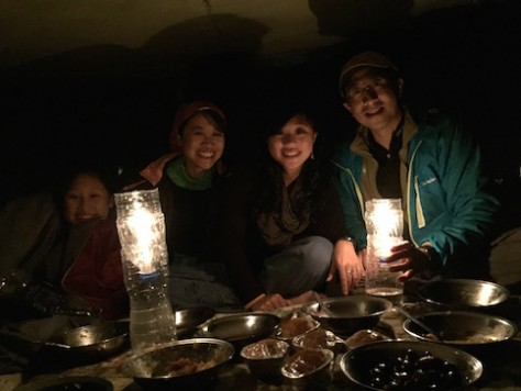 Ali and Mizo cooked us a special birthday dinner with candle lights on the boat!