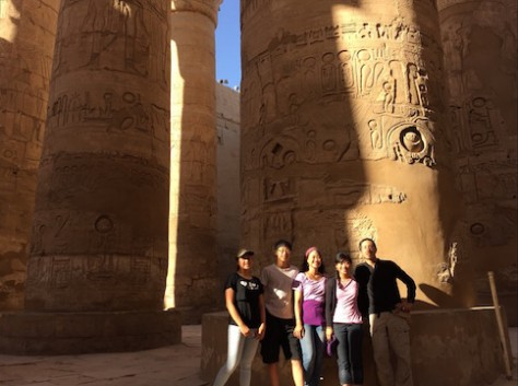 The Karnak Temple in Luxor was the grandest of all the temple we went.