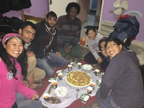 Omar taught Annie how to make Mansaf and Mogula, which are famous Jordanian dishes.