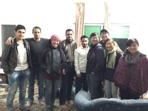 We were surprised to be invited into an apartment full of students from Yeman.