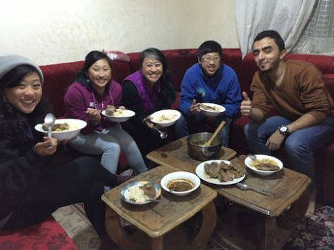 We cooked Chinese food for Odai which he enjoyed.