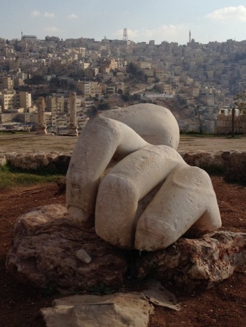 The old Roman Citadel on top of the mountain has a panoramic view of the 7 hills of Amman.