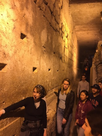 We walked along the West Wall of the Temple Mount under a tunnel where the foundation blocks are still intact from more than 2000 years ago.
