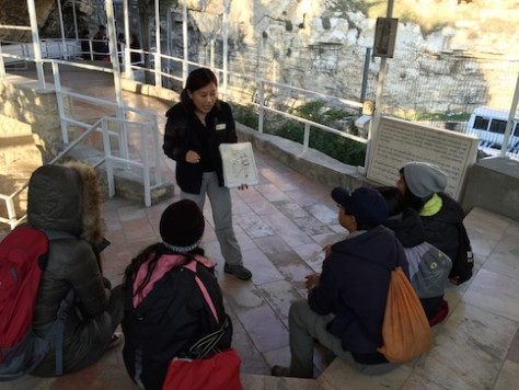 Sabrina, the Taiwanese tour guide at the Garden Tomb, was full of excitement as she shared about the site where Jesus was crucified and buried.