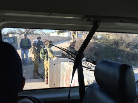 Inside West Bank, we saw soldiers guarding bus stations and intersections.