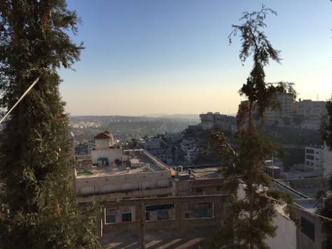 Bethlehem, sitting on top of a hill, is now a major city.