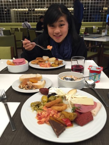 Enjoying the breakfast buffet at the 5 star hotel in Istanbul, complementary of Pegasus Airline due to the cancelled flight.