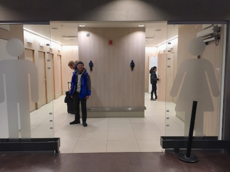 The toilet at the Stockholm airport reminds us of IKEA!