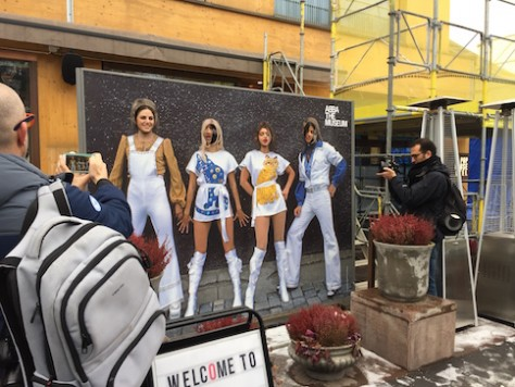 When we got off the bus in front of Abba museum, we bumped into the final four in Israel's Next Star Contest.