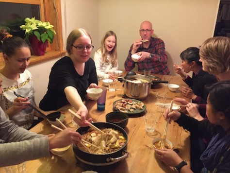 We brought back China to Norway as we ate spicy Chinese hotpot together for our last evening.
