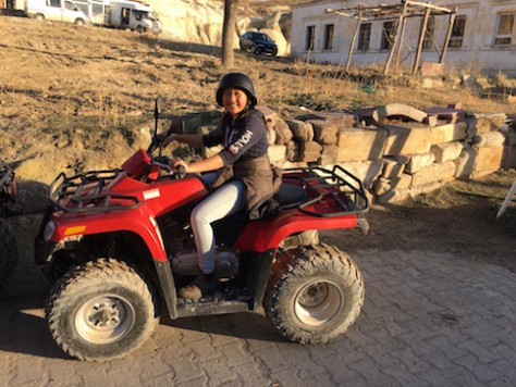 After 7 years, Joani rode on a quad bike for the 2nd time.