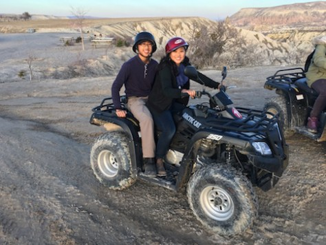 For Olivia, driving the quad bike versus riding behind Nathan was a different feeling.