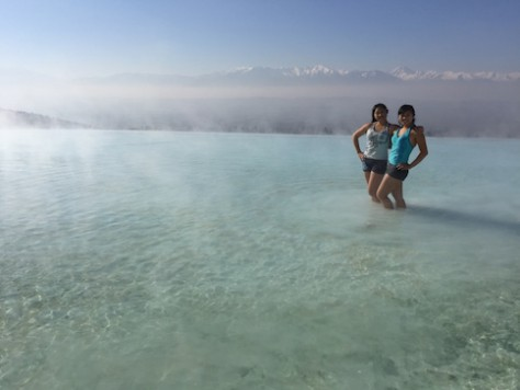 Pamukkale Hot Spring in winter.