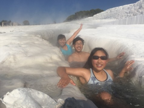 "For Joani's ""pre-birthday"" celebration, we went and enjoyed the ancient hot spring city of Pamukkale."