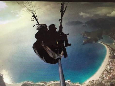 For Nathan's 16th birthday celebration, he paraglided down the blue lagoon, like James Bond.