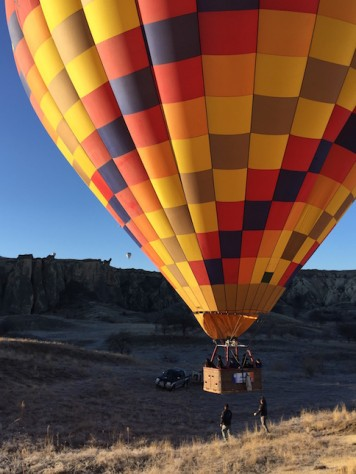 Riding on this colorful hot air balloon was one of our highlight of the trip.