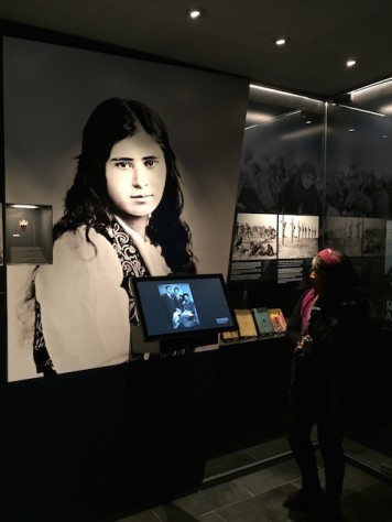 At the Armenia genocide museum, we got to know this girl who wrote a book about her story that was later made into a film.