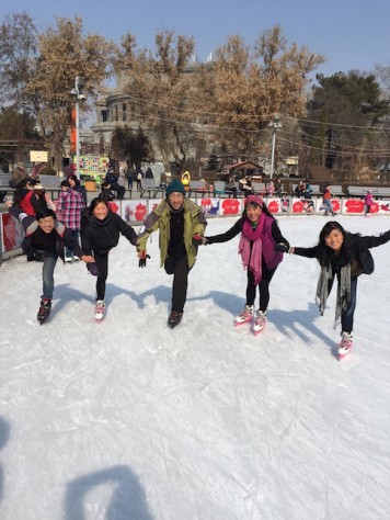 Our first outdoor skating experience here in Yerevan, Armenia, for just USD 2 including rental.