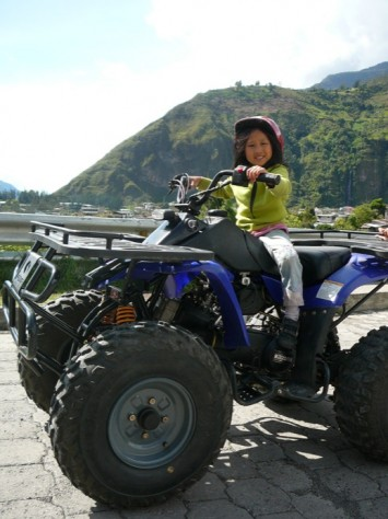 Joani first rode on the quad bike on her own in 2008, at the age of six
