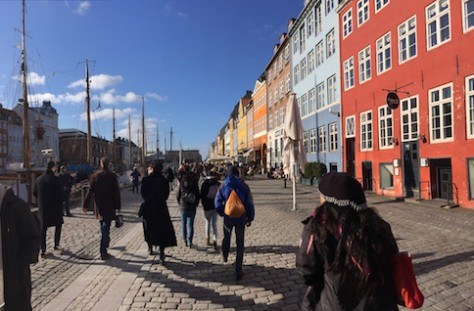 The free walking tour took us to the beautiful harbor of Copenhagen.