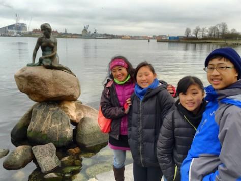 We visited the famous Little Mermaid statue in Copenhagen.