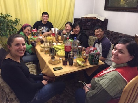 We had a feast every meal over the dining table with Szymon's mother, youngest brother, and sister in law.