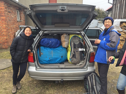 "We were to stuff all our backpacks, food bags, and a spare tire in the ""miracle"" trunk of the station wagon."