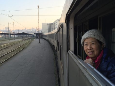 Grandma took many night trains with us as we travelled through Eastern Europe.