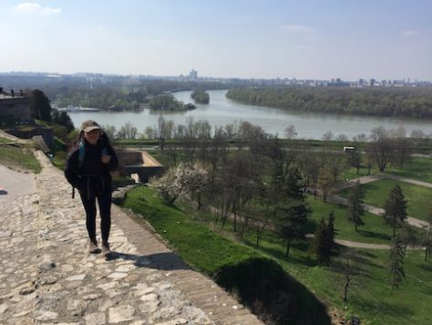 We all enjoyed the view from the castle of Belgrade overlooking the two rivers.