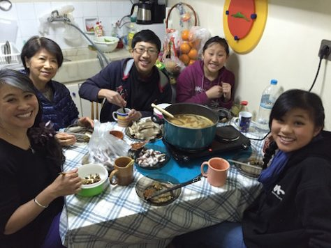 Our Sichuan spicy hotpot dinner in Athens was one of our highlight with Grandma.