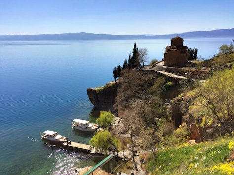 We all enjoyed the view over the Ohrid Lake in Macedonia.