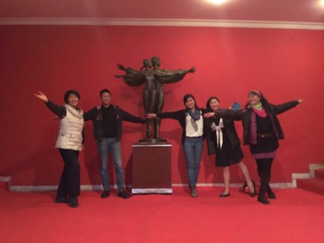 We watched ballet together in Tirana, Albania.