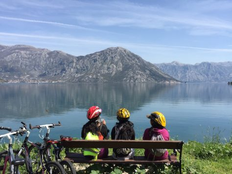 The bike along the Bay of Kotor in Montenegro was scenic.