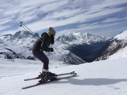 Olivia, Nathan, Joani and I skied at the famous Mount Blanc in Chamonix, France.