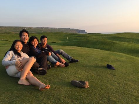 On the golf course of Doolin, Ireland.
