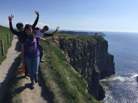 We hiked precariously along the Moher cliff edge of Ireland.