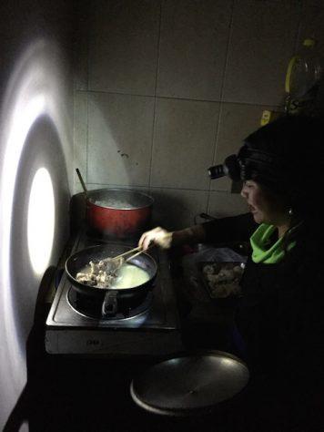 Cooking in the dark in Petra, Jordan