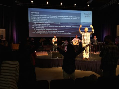 "Our one year backpacking trip ended with a sermon on ""the truth of Worship"" in the Epicenter Church in LA."