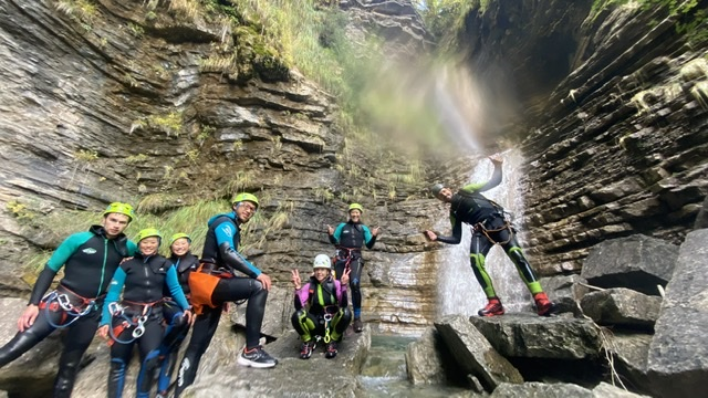 Canyoning in Spain with Mario and Gema