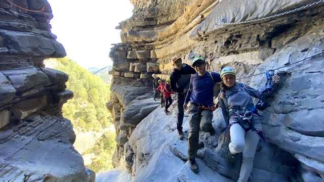 Via Ferrata in Spain with Mario and Gema